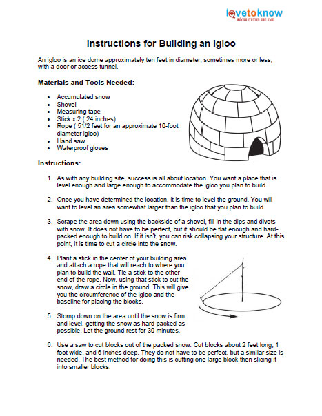 How to Build an Igloo | LoveToKnow
