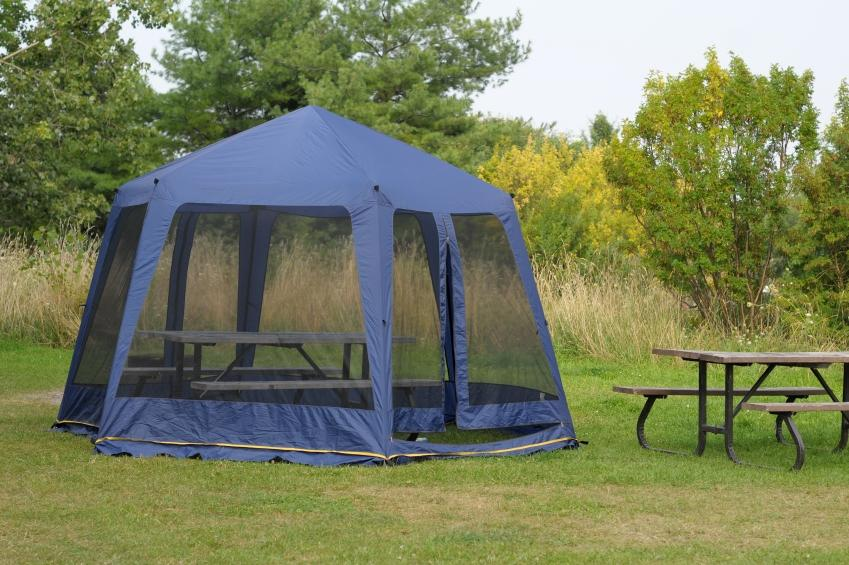 Screen Tents & Picnic Table Tent u0026 Tent Sites Include Leveled Pads For Tents And ...