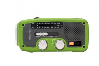 Solar Radio with Flashlight and Weather
