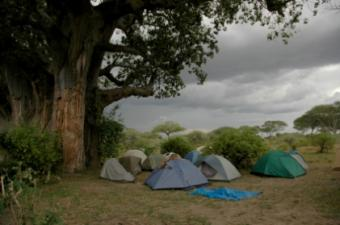 stormy camp