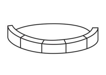 Stack blocks lengthwise around the circle