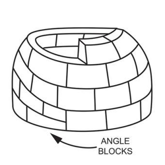 Angle first few blocks