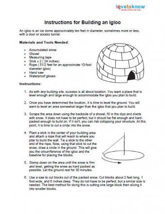 A traditional igloo