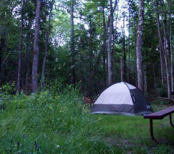 Big Bay State Park campsite