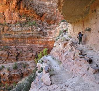Hikers in Grand Canyon National Park on North Kaibab Trail