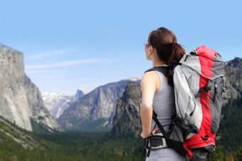 Hiker in Yosemite National Park