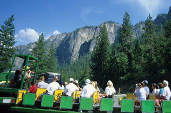 Yosemite open bus
