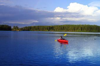 Paddling at Voyageurs National Park
