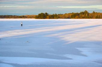 Skiing at Voyageurs National Park