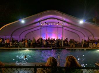 Poolside concert at Bayley's Camping Resort