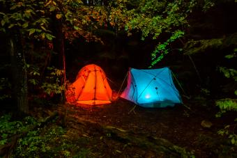 Tents in Adirondack Mountains New York