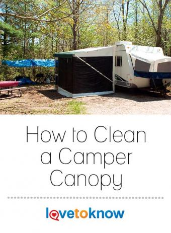 Rv with canopy extended