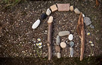 sticks arranged creatively