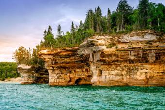 Pictured Rocks National Lakeshore on Upper Peninsula, Michigan