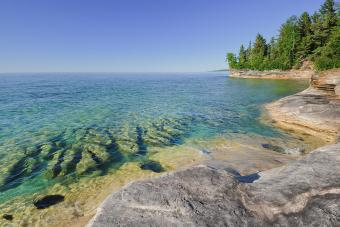 Pristine clear waters of Lake Superior