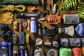 Camping and hiking travel and hiking gear