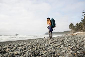 Backpacking along the coast in the Olympic National Park.