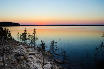 Sunset on Clarkes Hill Lake Mistletoe State Park Georgia