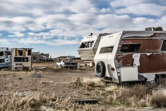 Trailers and Cars junk yard