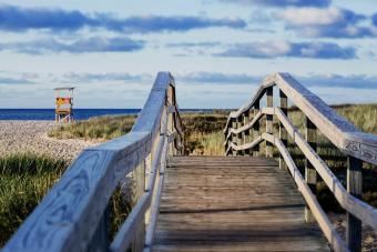 Walking bridge to Ridgevale Beach, Chatham, Cape Cod