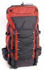 A typical backpacker's pack.