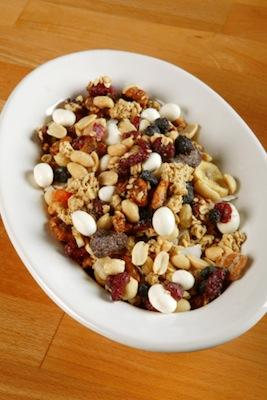 Nutritious homemade trail mix.