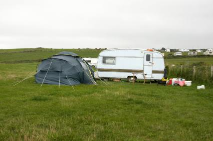 Travel Trailer and Tent