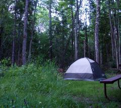 Big Bay State Park campsite