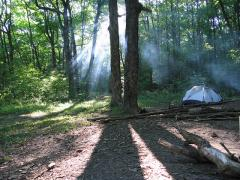 Camping at Kettle Moraine State Forest