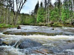 Rapids on the Brule River
