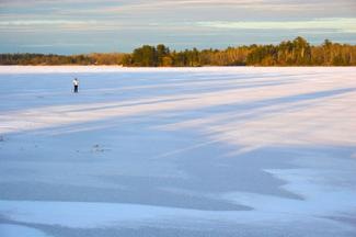 Skiing at Voyageurs National Park