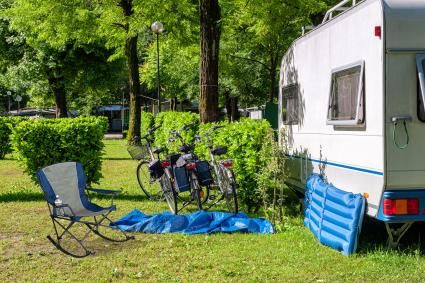 Campsite With Rocking Campchair