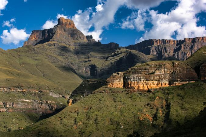 Amphitheater, Drakensberg mountains, Royal Natal NP, South Africa
