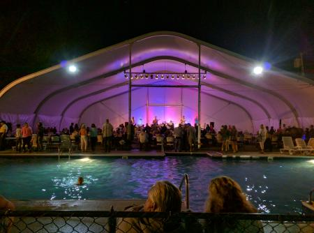 Poolside concert at Bayley's Camping Resort