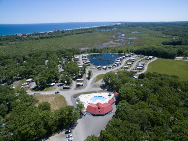 Aerial view of Bayley's Camping Resort