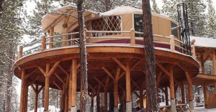 Rainier yurt on stilts