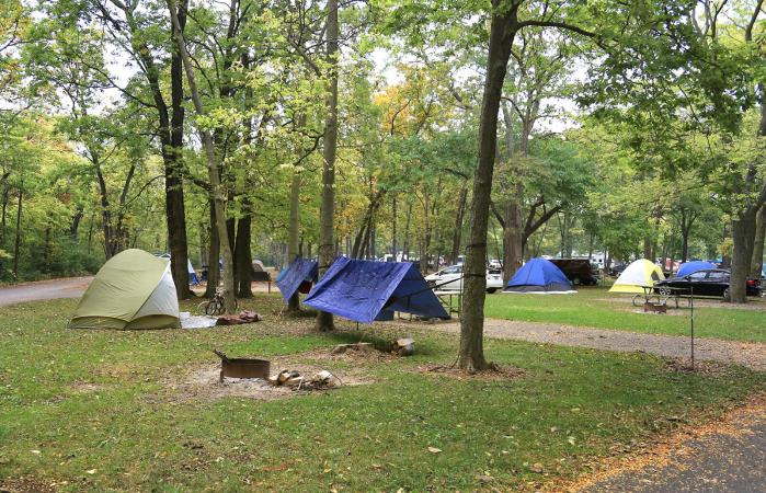 Public campground, Marblehead, Ohio