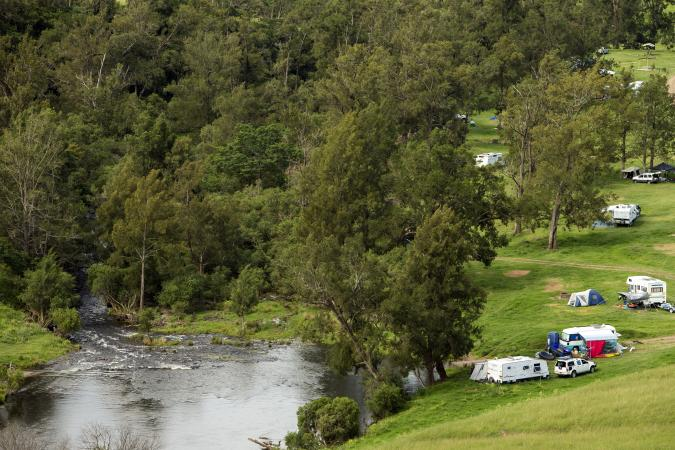 RV park by a river