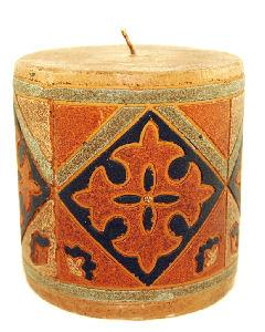 African candles complement African candle holders and add a touch of authentic style