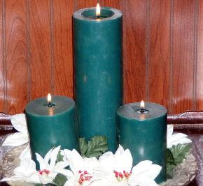 Beeswax Candles in Colors