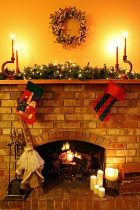 Decorating with Faux Holiday Greens and Flameless Candles