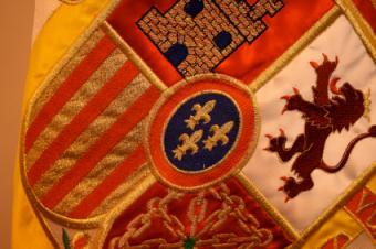 flag with flour de lis design