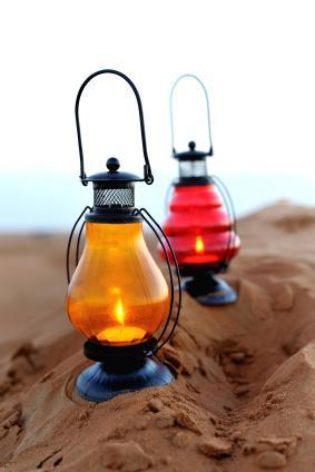 Teardrop Garden Candle Lantern