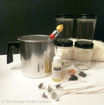 Parafin candle making kit