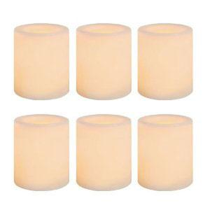 Wax-Covered LED Votive Candles