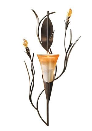 Lily candle holder sconce