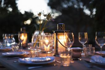 Candlelit Outdoor Table