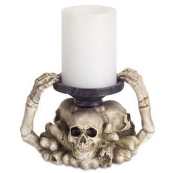 Melrose Skull and Bones Candle Holder