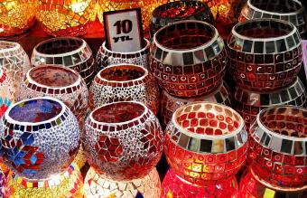 Ideas for Glass Mosaic Candle Holders