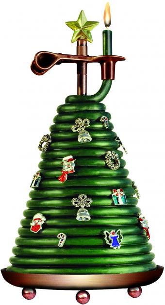 Candle by the Hour Christmas Tree Candle with 14 charms